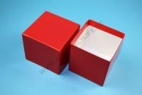 Kleine Geschenkbox rot - hochglanz - 7,6 x 7,6 x 7,5 cm