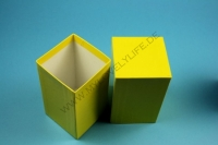 Small gift box yellow - high-glossy - 7.6 x 7.6 x 13 cm