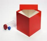 Mittlere Geschenkbox rot - glänzend - 13,6 x 13,6 x 13,0 cm