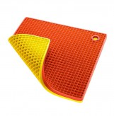Duo Soft Cell Topflappen, gelb-orange